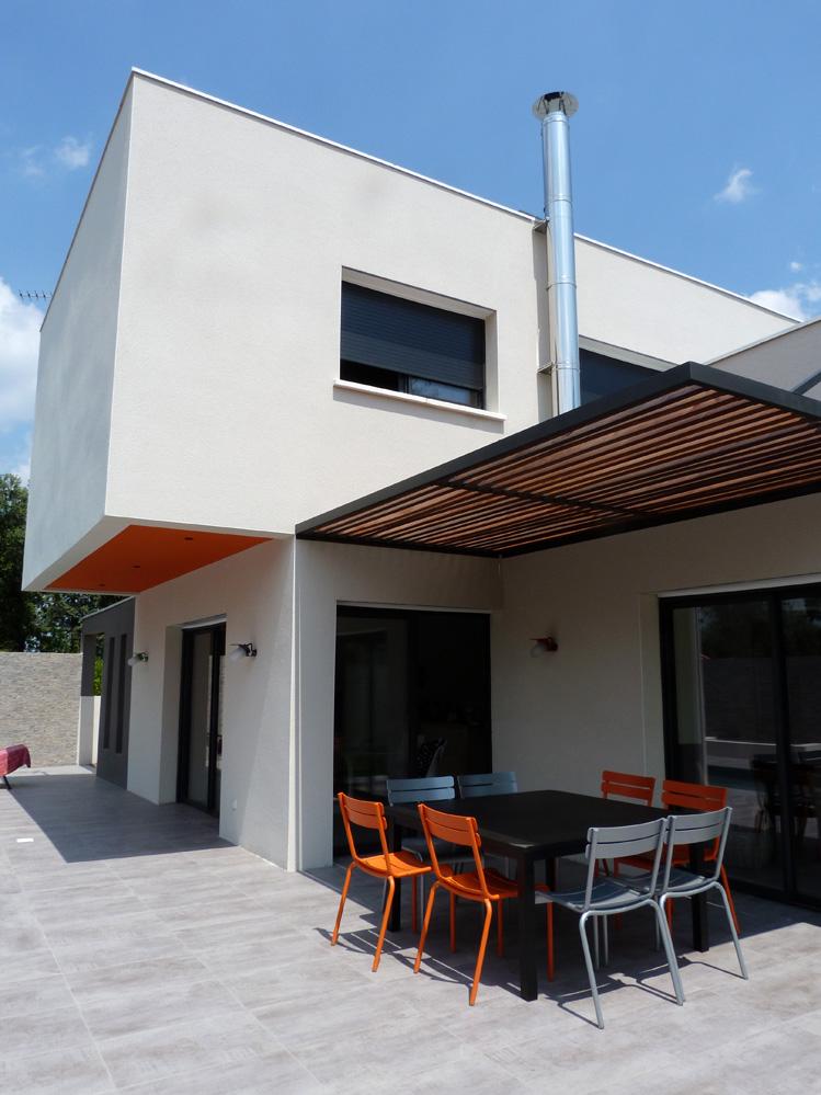 Atelier d 39 architecture ban gas villas villa 450 for Dessus cheminee exterieure
