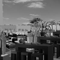 Perspective d'ambiance de la terrasse du restaurant.<br />