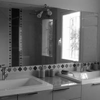 Photo intérieure : meuble de salle de bain.<br />