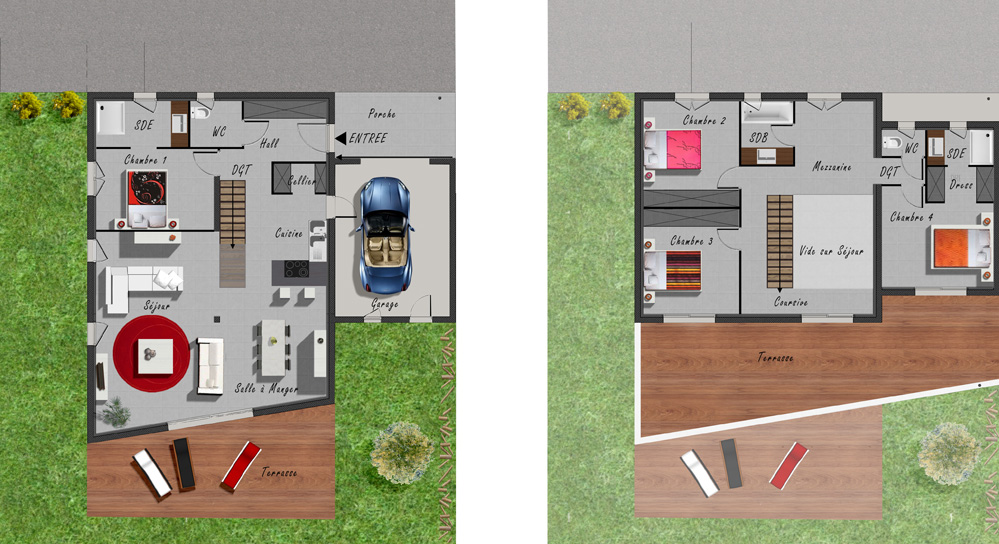 atelier d 39 architecture ban gas habitat groupe habitat groupe 382. Black Bedroom Furniture Sets. Home Design Ideas