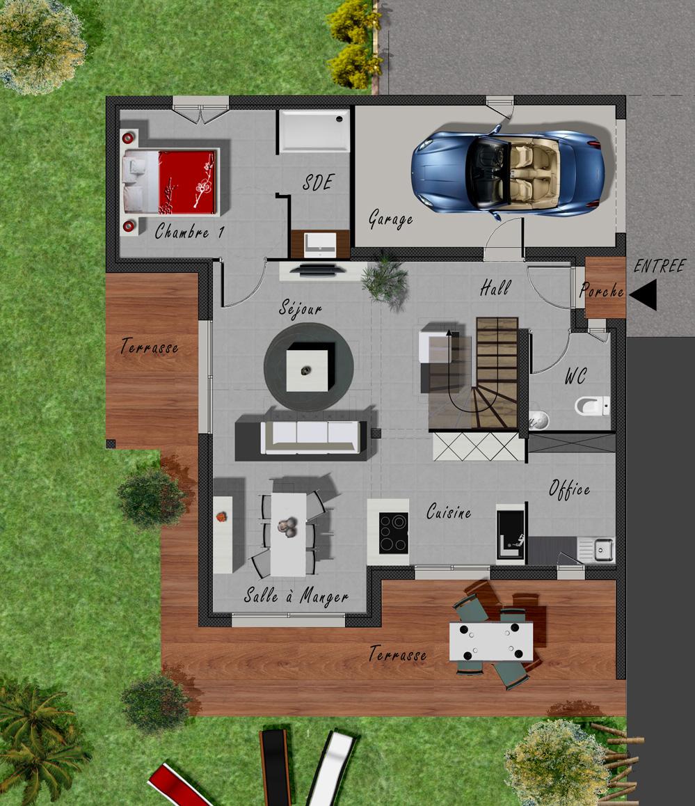 Plan de maison type for Plan maison type
