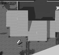 Plan masse des 3 maisons traditionnelles.<br />