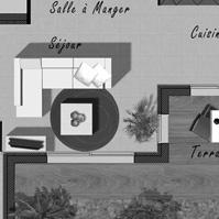 Plan du rez de chaussée de la maison 1 de type 4.<br />