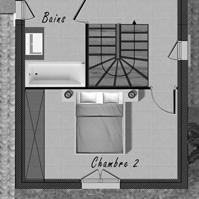 Plan de l&rsquo;étage de la maison 1 de type 4.<br />