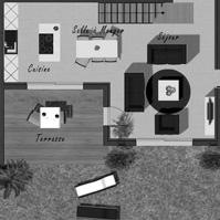 Plan du rez de chaussée de la maison 2 de type 4.<br />