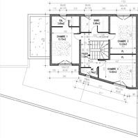 Plan de vente : étage villa 1 de type 4.<br />