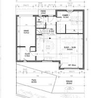 Plan de vente : rez de chaussée villa 2 de type 4.<br />
