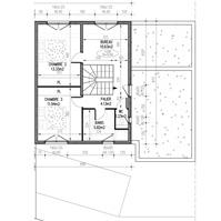 Plan de vente : étage villa 2 de type 4.</p>
