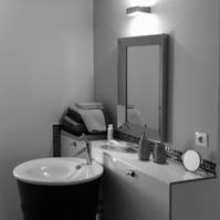 Salle d'eau du studio.<br />