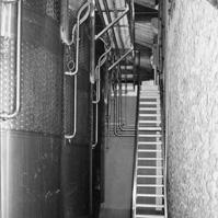 Photo escalier d'accès aux cuves.<br />
