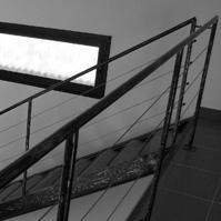 Escalier métal et bois.<br />