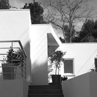 Escalier d&rsquo;accès en bois.<br />