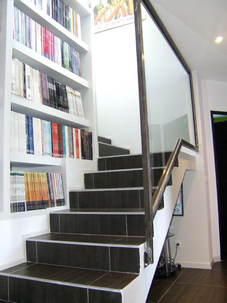 escalier central maison stunning with escalier central. Black Bedroom Furniture Sets. Home Design Ideas