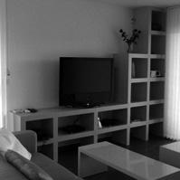 Séjour, aménagement d'un meuble télé<br />