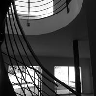 Trémie de l&rsquo;escalier hélicoïdal métal et bois.<br />