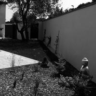 Aménagement paysager du jardin.<br />