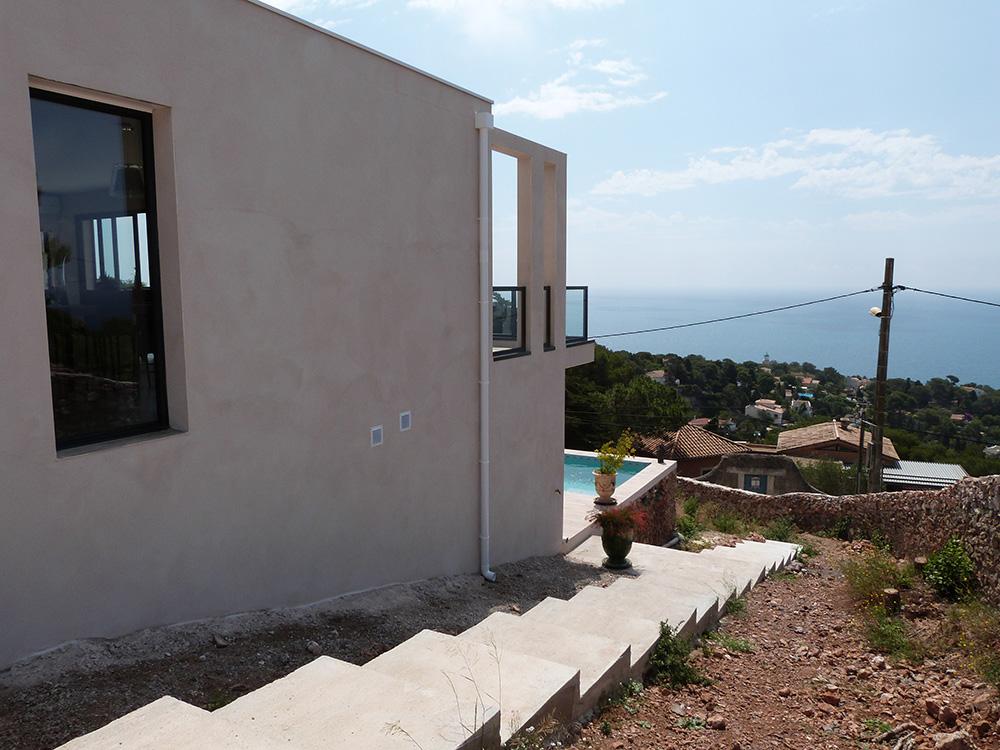 Atelier d39architecture banegas villas villa 461 villa for Une vue de la faaade ouest
