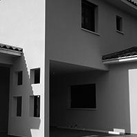 Façade Nord avec terrasse couverte et percements<br />