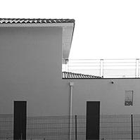 Façade pignon Ouest avec toiture terrasse</p>